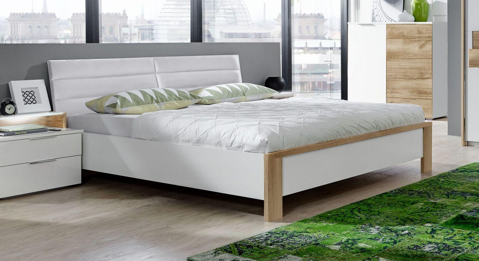 Bett Bellegra aus alpinweißem Dekor