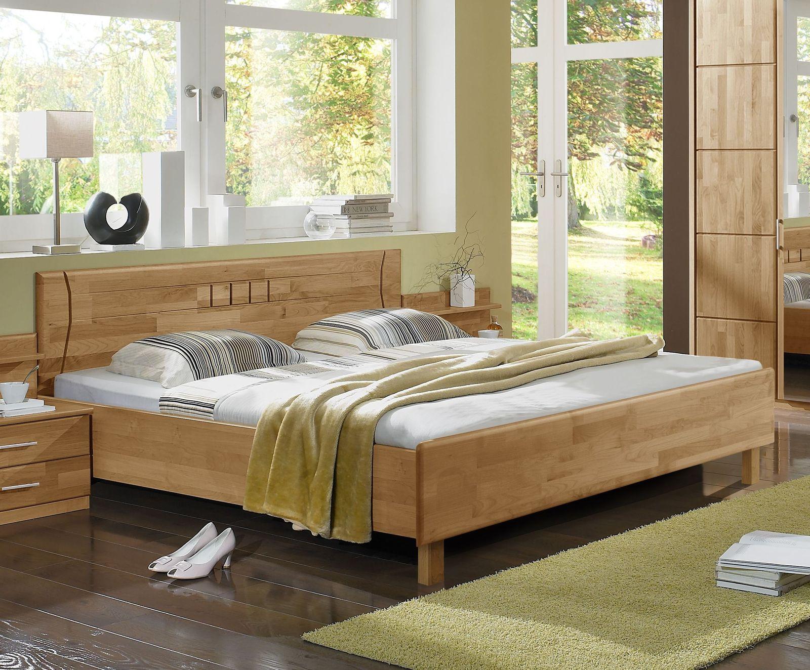doppelbett erle teilmassiv in standard und berl nge beyla. Black Bedroom Furniture Sets. Home Design Ideas