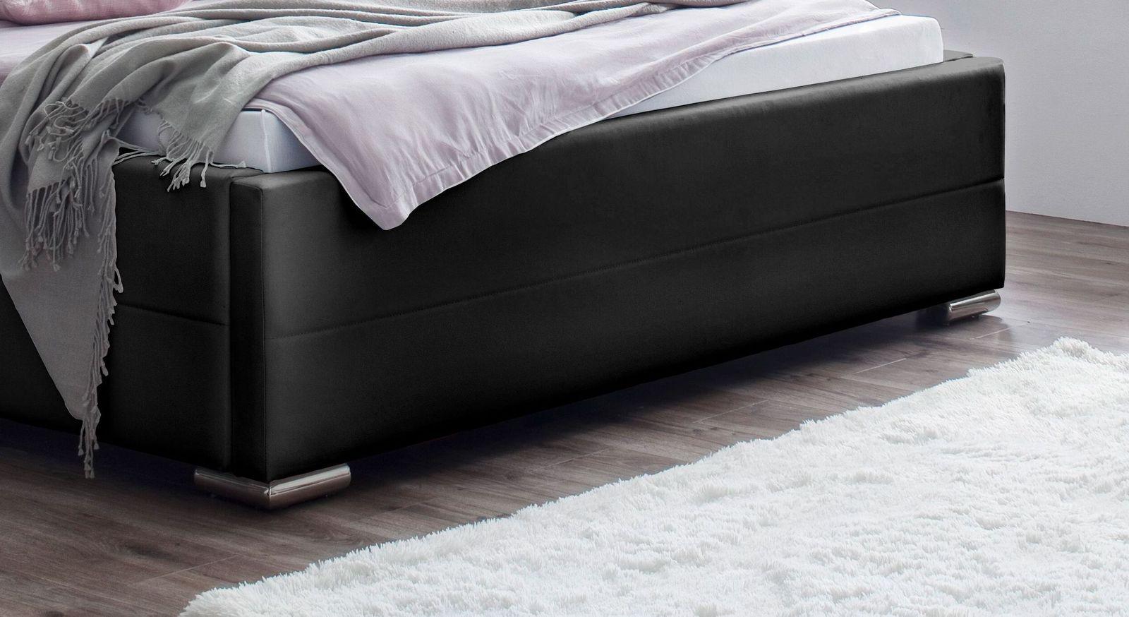 Bett Boretto mit verchromten Metall-Winkelfüßen