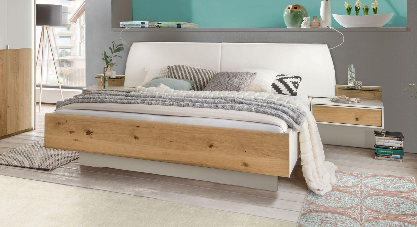 Modernes Bett Briston mit Kunstleder-Kopfteil
