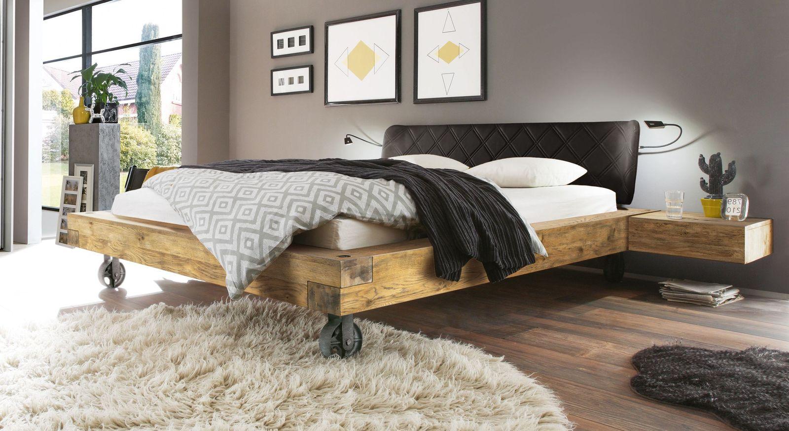 bett industrial style home ideen. Black Bedroom Furniture Sets. Home Design Ideas