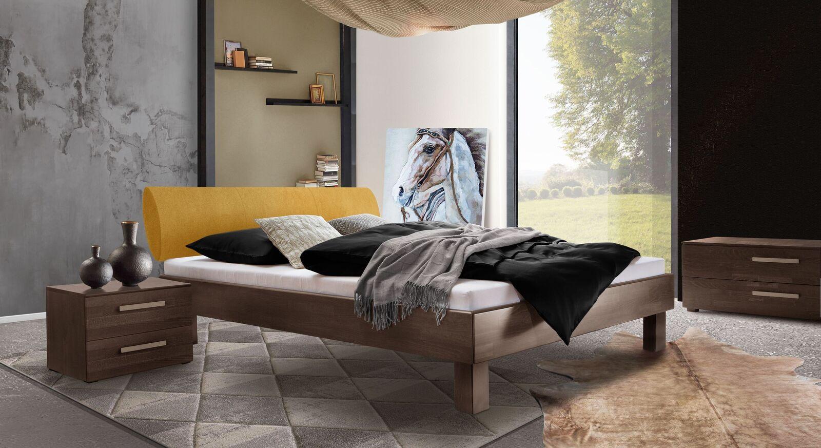 Bett Cannelino mit passenden Accessoires fürs Schlafzimmer
