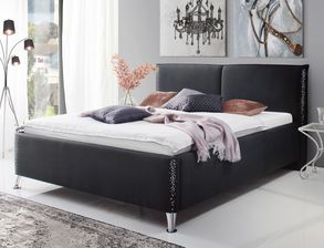 betten und bettgestelle in schwarz kaufen bei. Black Bedroom Furniture Sets. Home Design Ideas
