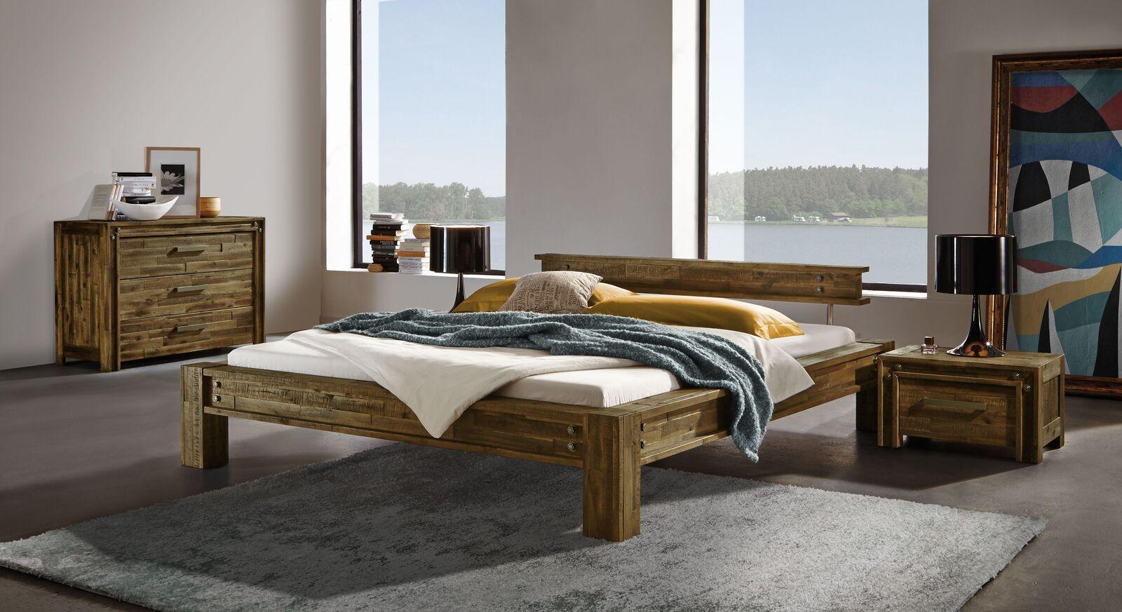 Bett Cedron mit passenden Beimöbeln fürs Schlafzimmer