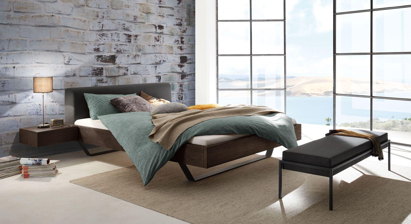 Bett Cenadro mit passendem Schlafzimmermöbeln