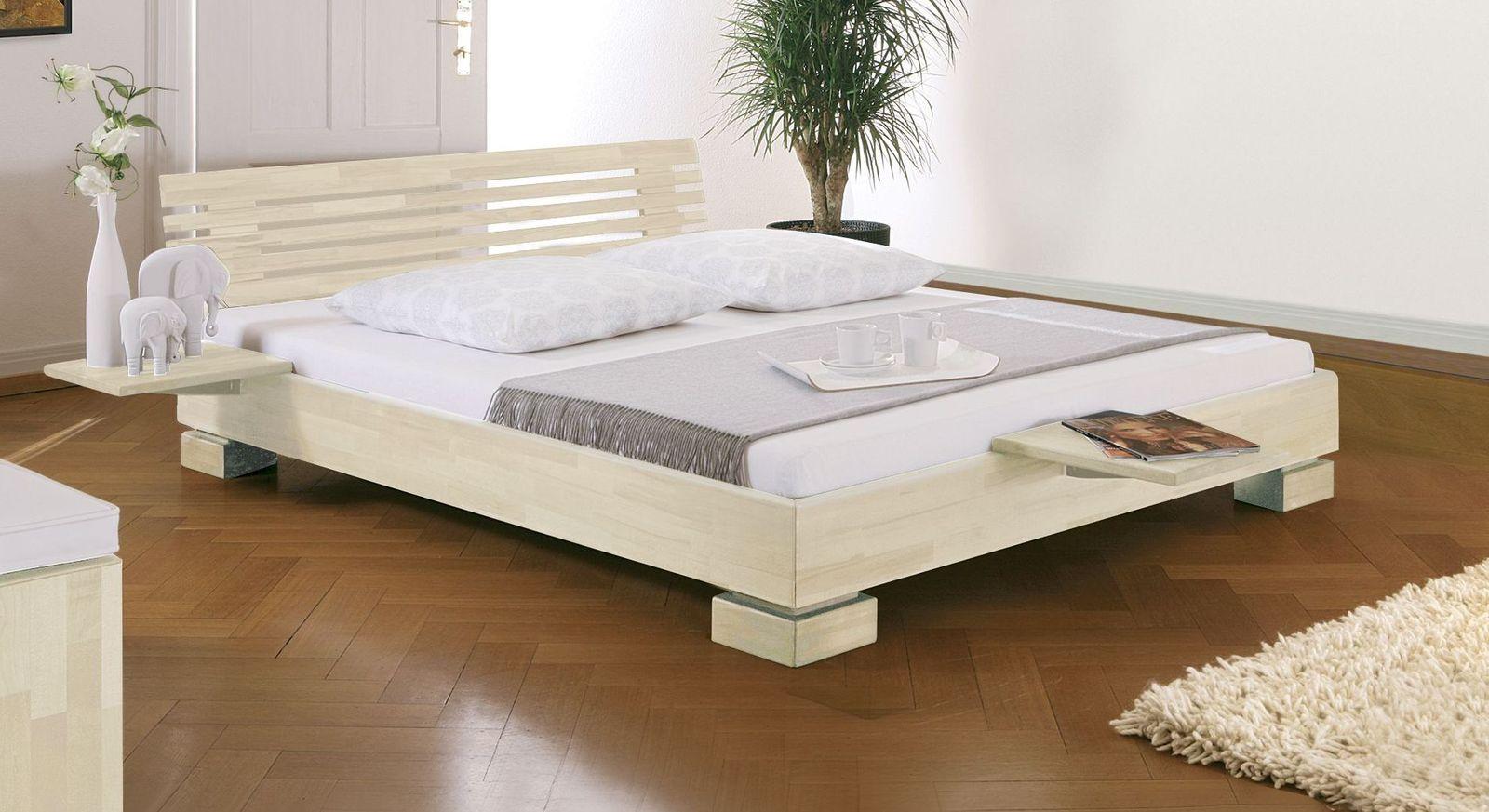 Weißes Bett Como mit 18 cm Rahmenhöhe