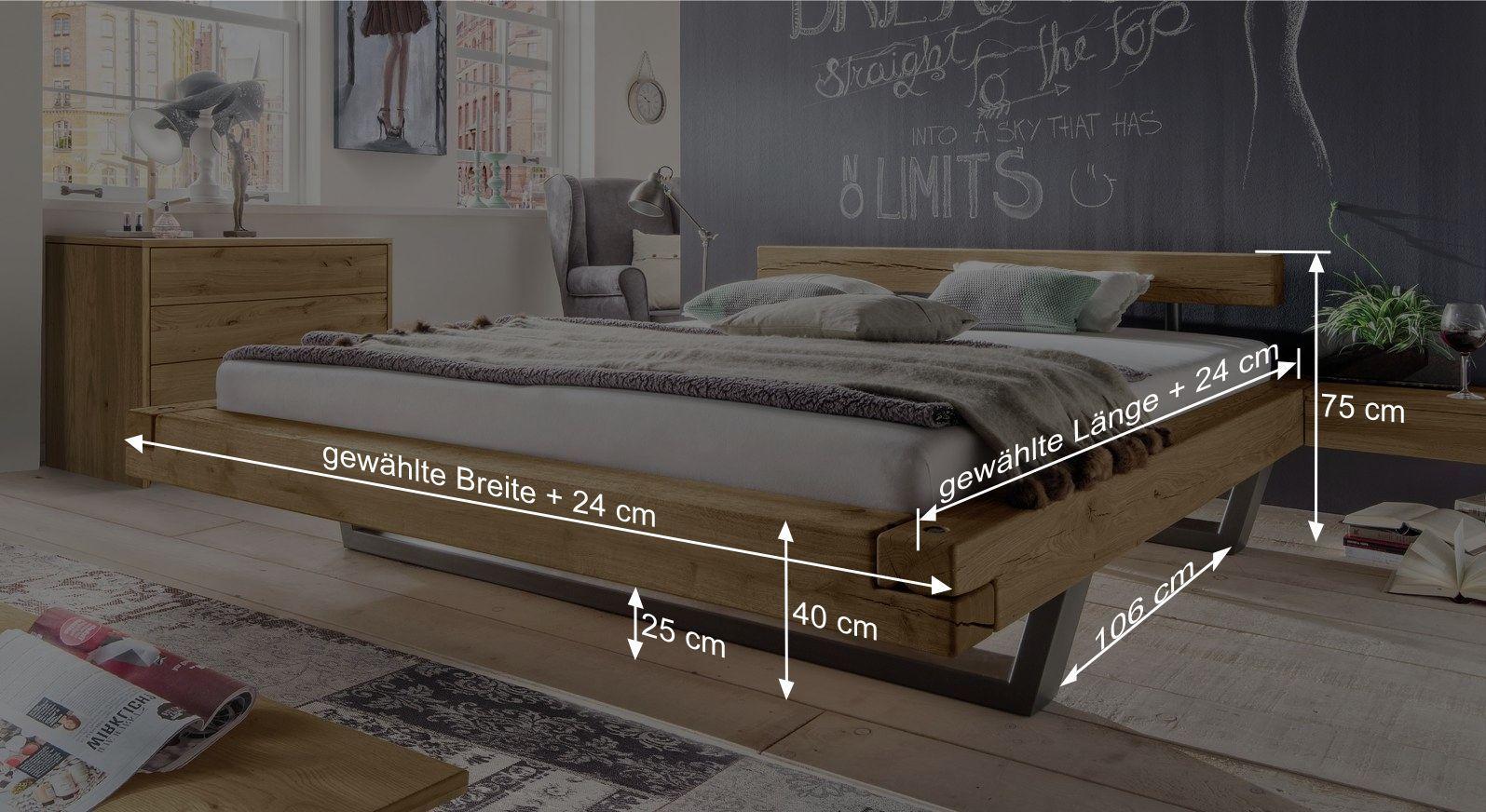 Bemaßungsskizze zum Bett Darica