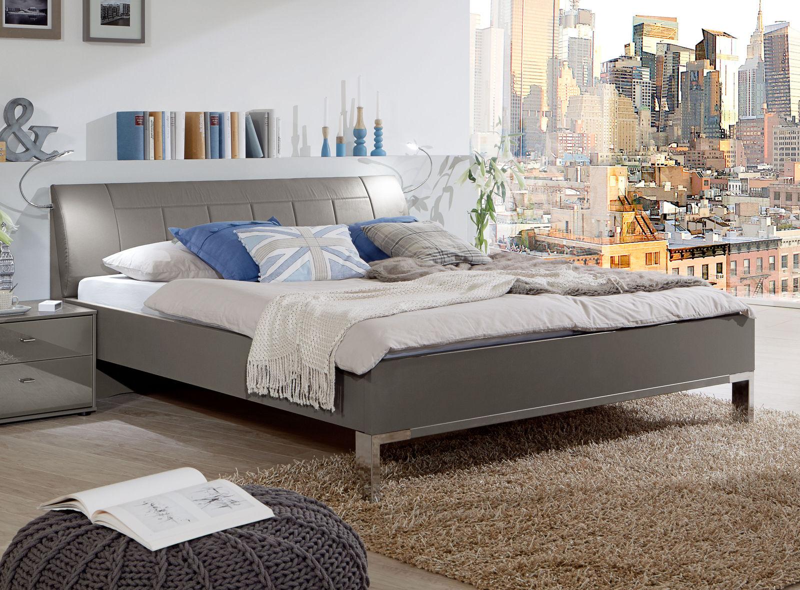 Modernes Komfortbett mit 43 cm Rahmenhöhe in Havanna Dekor - Dilly