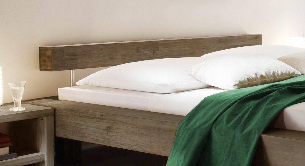 Bett Dinia mit Balken-Kopfteil