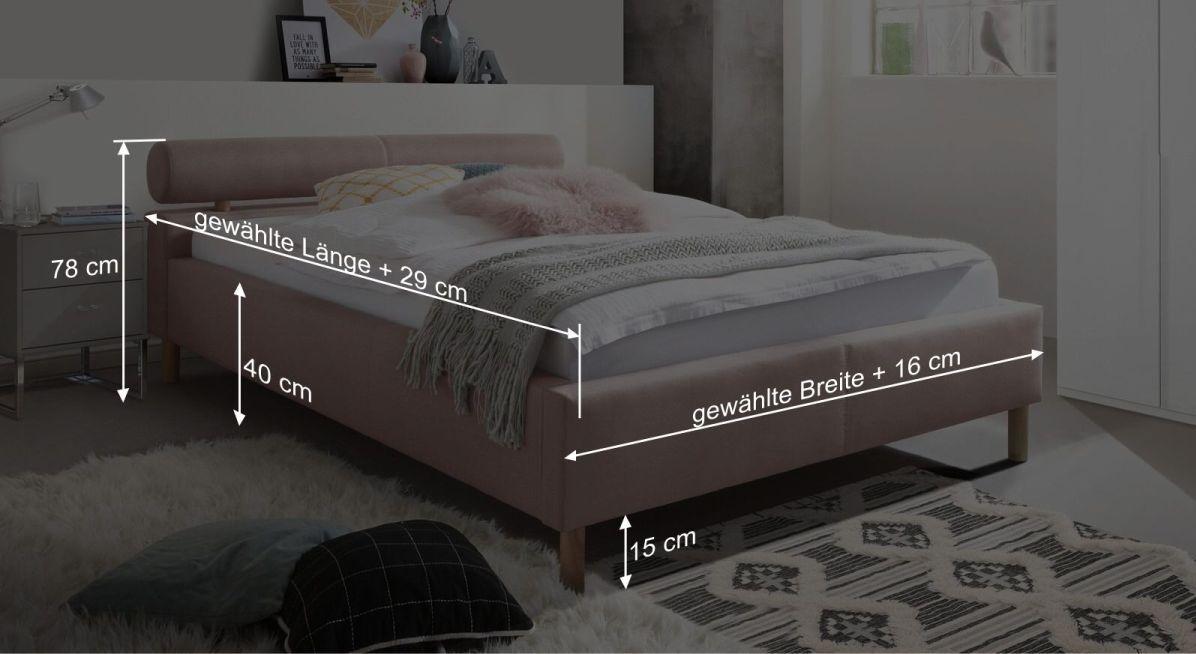 Bemaßungsgrafik Bett Dorado