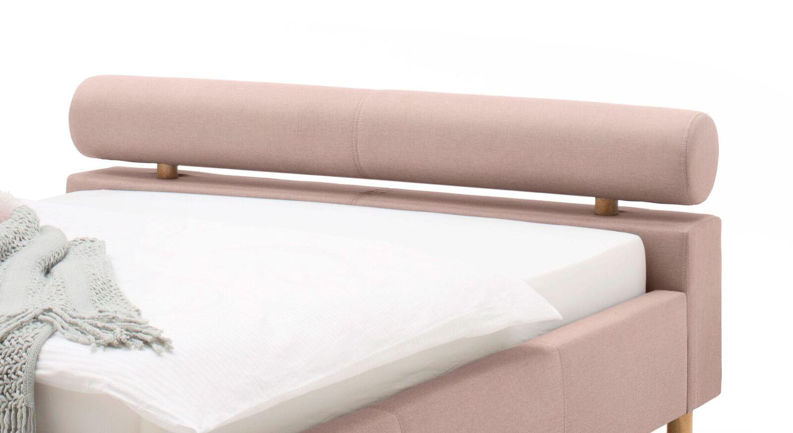 Bett Dorado mit bequem gepolsteter Nackenrolle