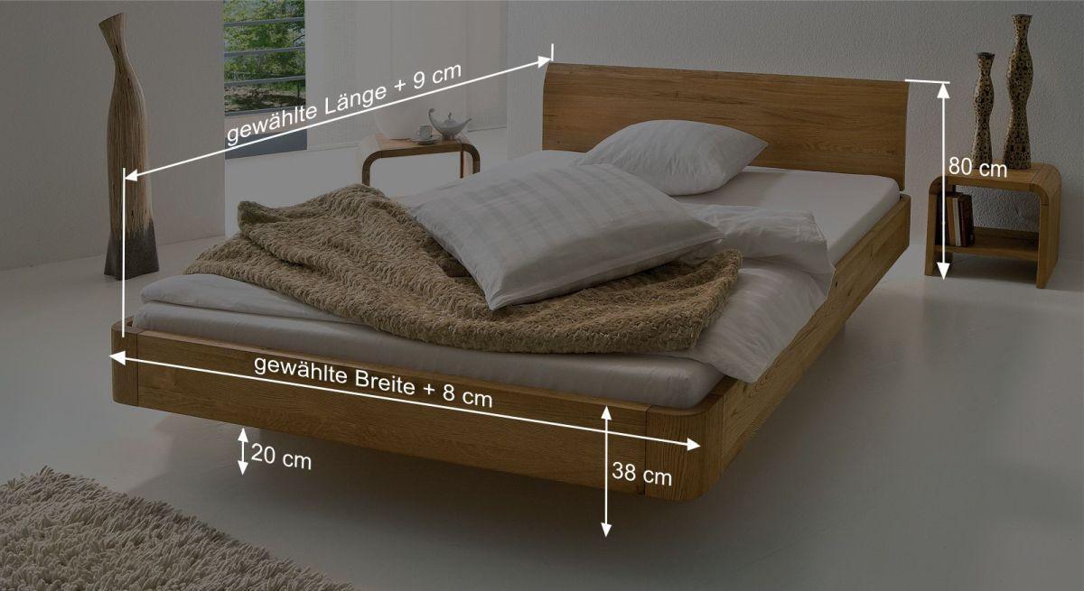 Bemaßungsskizze zum Bett Ecuador
