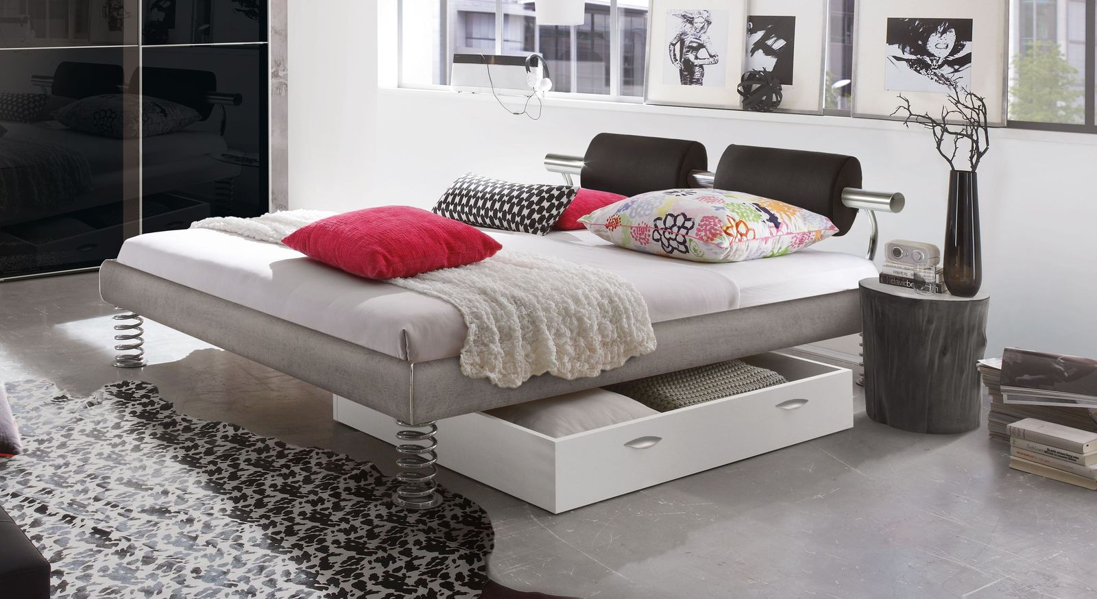 Stylisches Designbett Elastic für Jugendzimmer