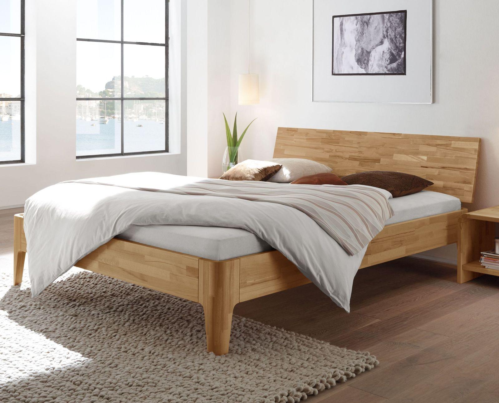 bettgestell in z b 140x200 cm in kernbuche kaufen florina. Black Bedroom Furniture Sets. Home Design Ideas