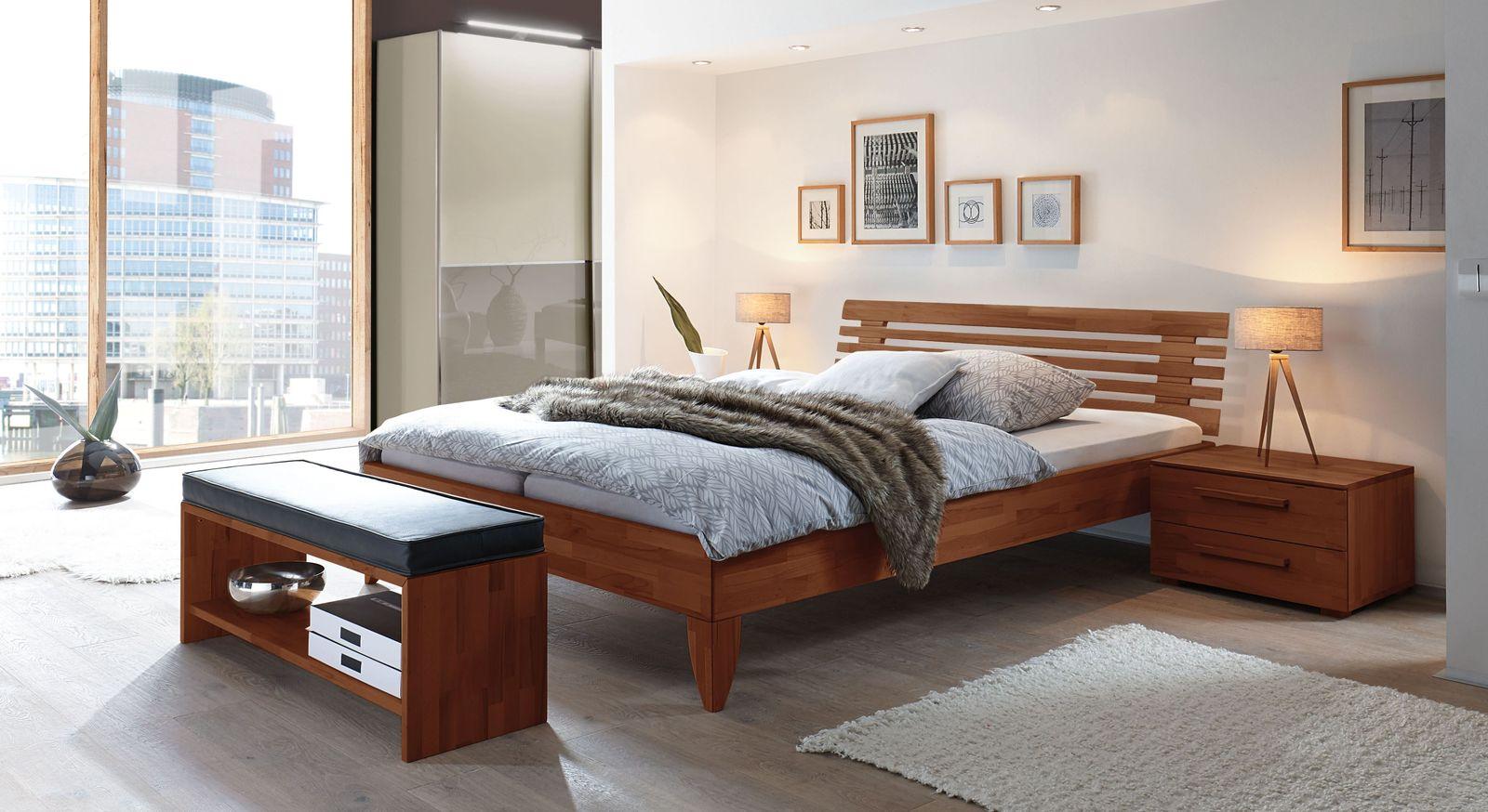 Bett Fontana mit passender Schlafzimmer-Einrichtung