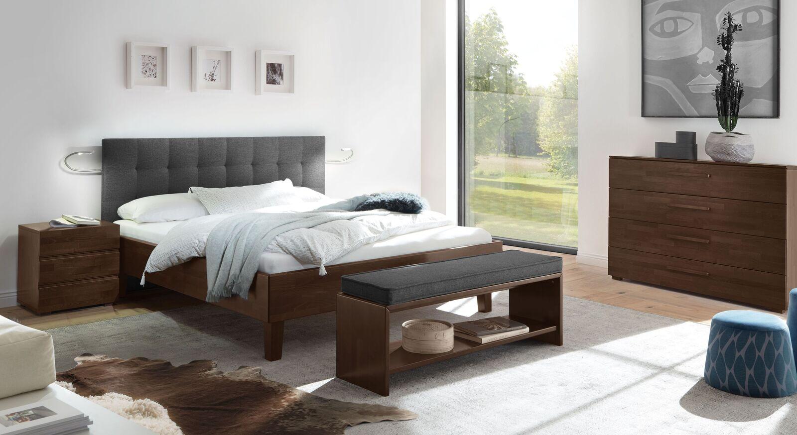 Bett Fucino mit passender Schlafzimmer-Ausstattung