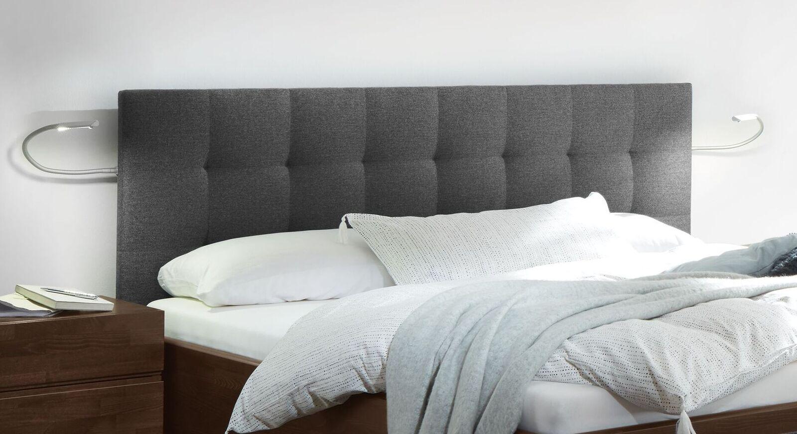 Modernes Bett Fucino mit Polster-Kopfteil