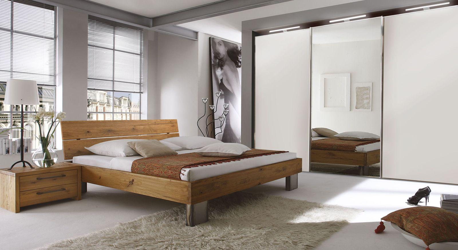 Bett Fuego Aus Wildeichenholz Als Einzelbett Doppelbett