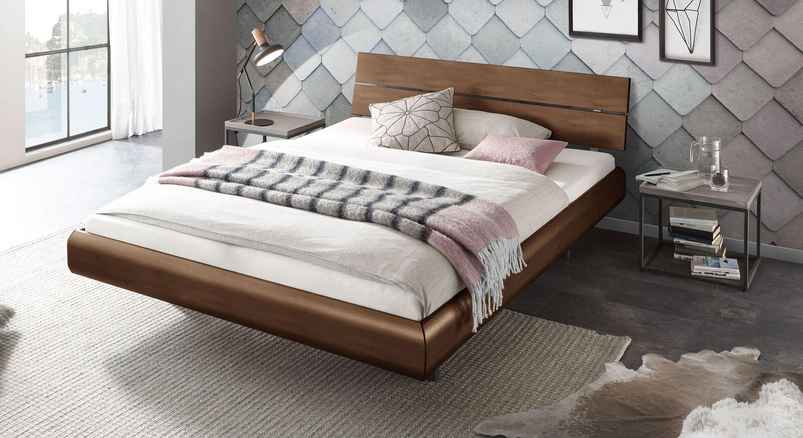 Bett Galatis mit Dekor-Oberfläche