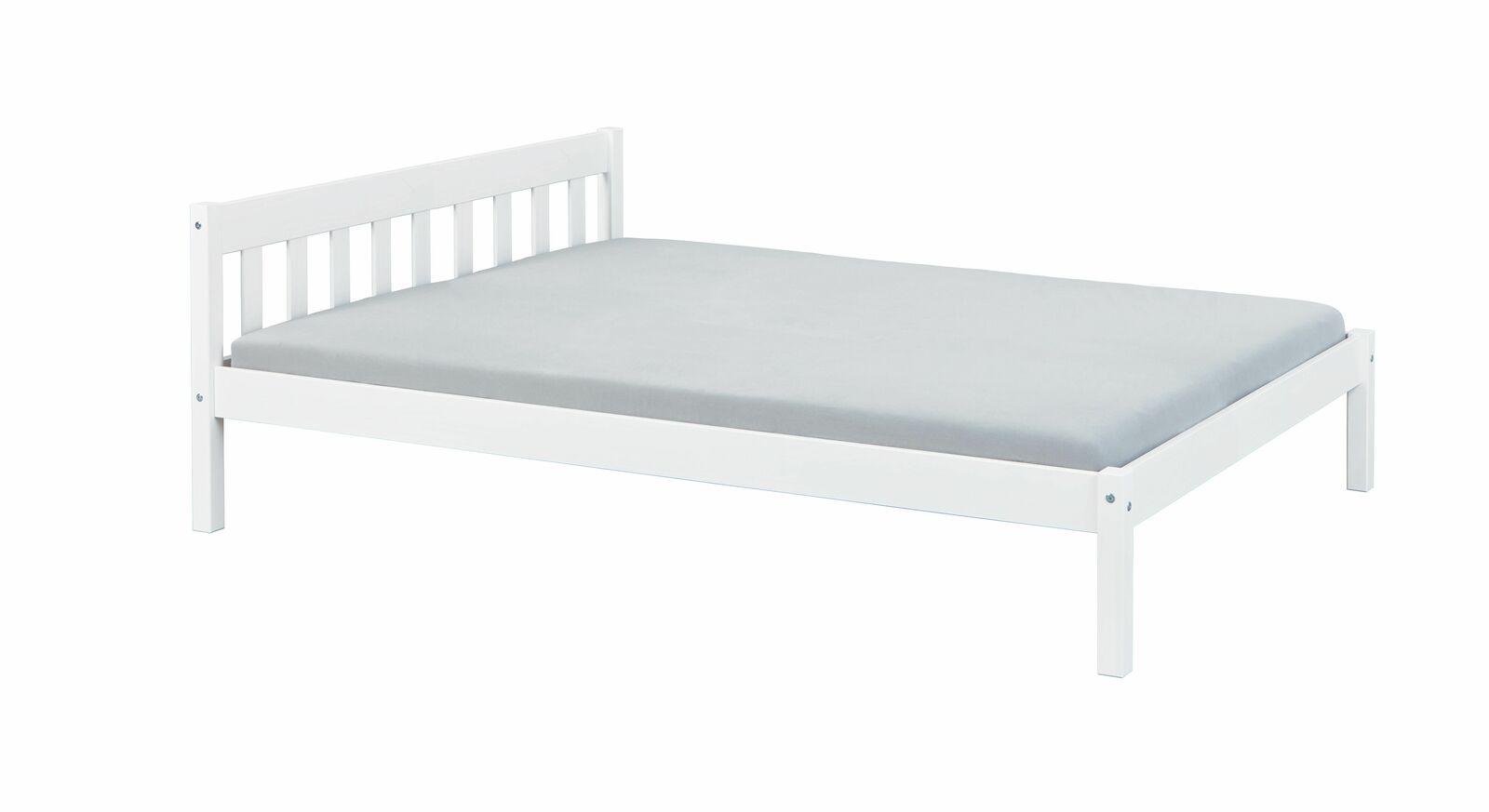Preiswertes Bett Genf in Weiß für Jugendzimmer