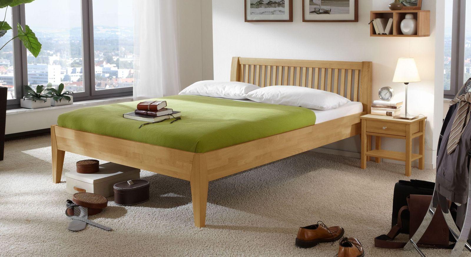Buchen-Bett Glarus aus Massivholz