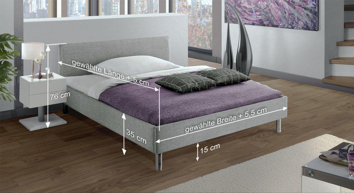 Bemaßungsskizze des Betts Gravelines