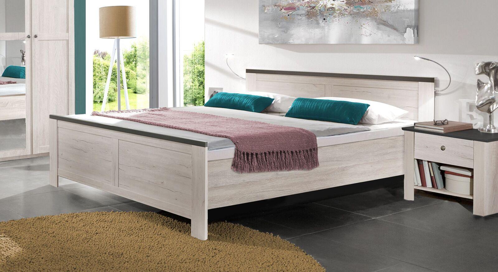 Bett Grom in Weißeiche Dekor