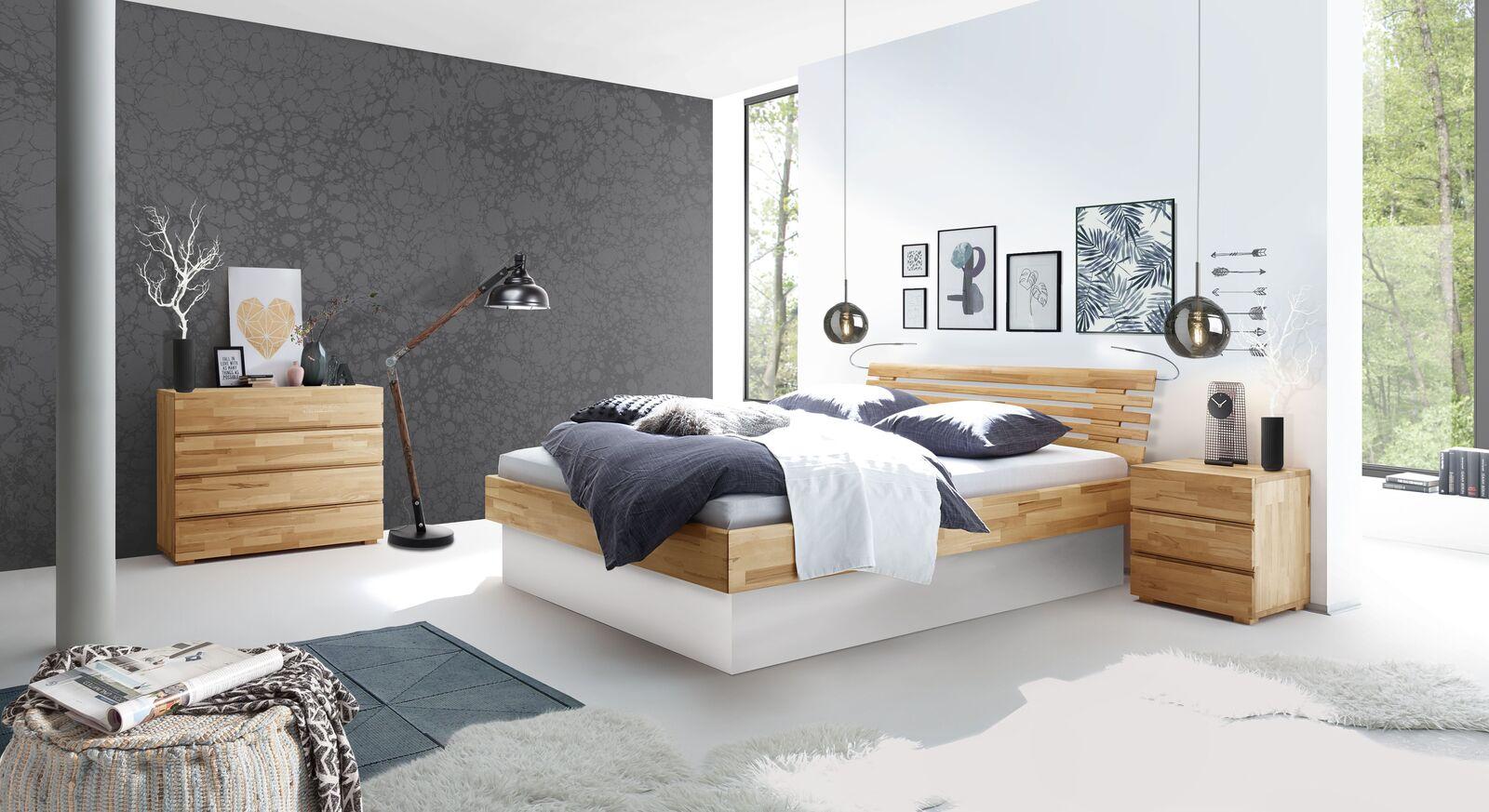 Bett Grosseto mit passender Schlafzimmer-Einrichtung