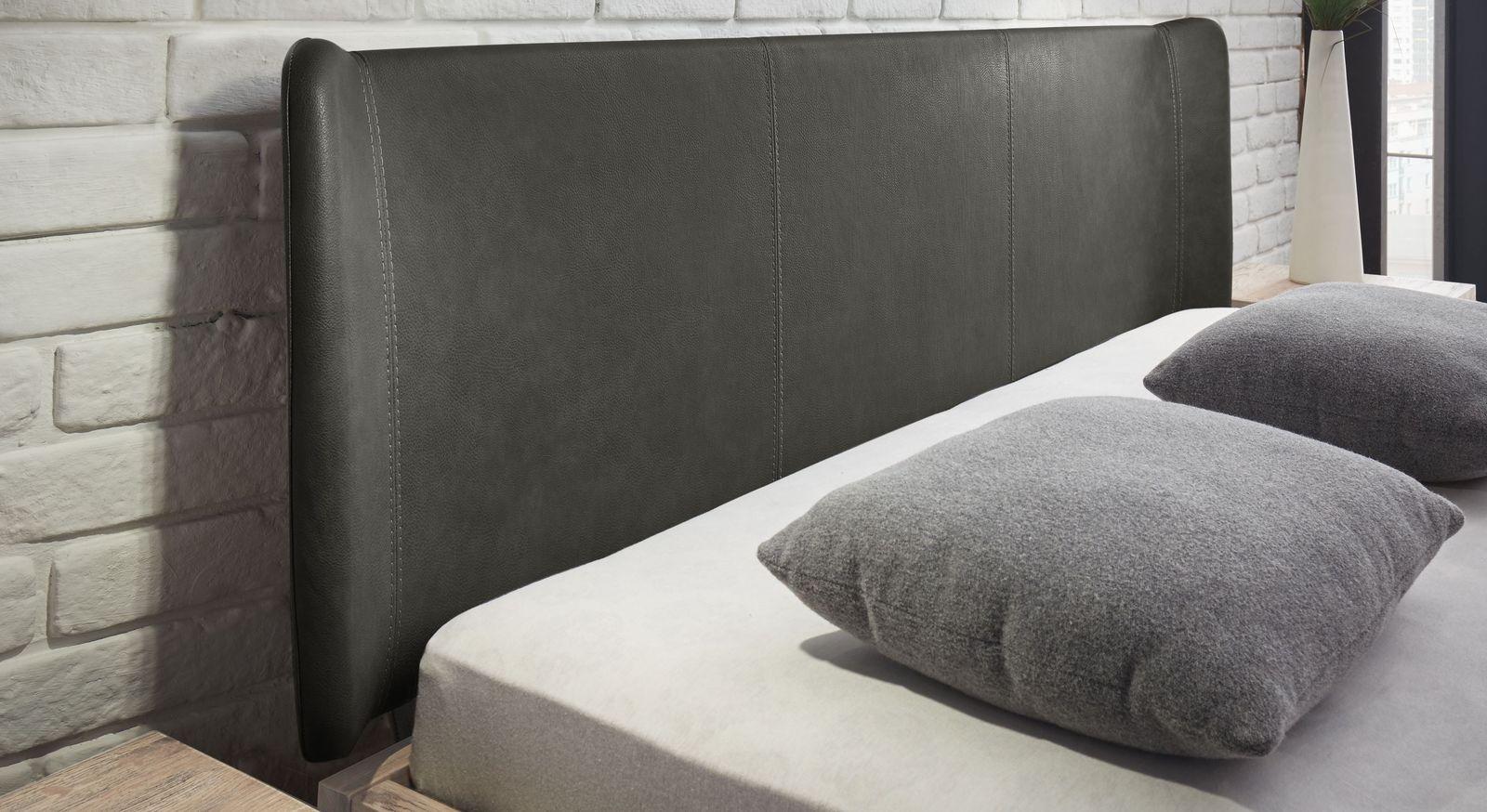 Bett Imatra & Passo mit Kopfteil aus Luxus-Kunstleder
