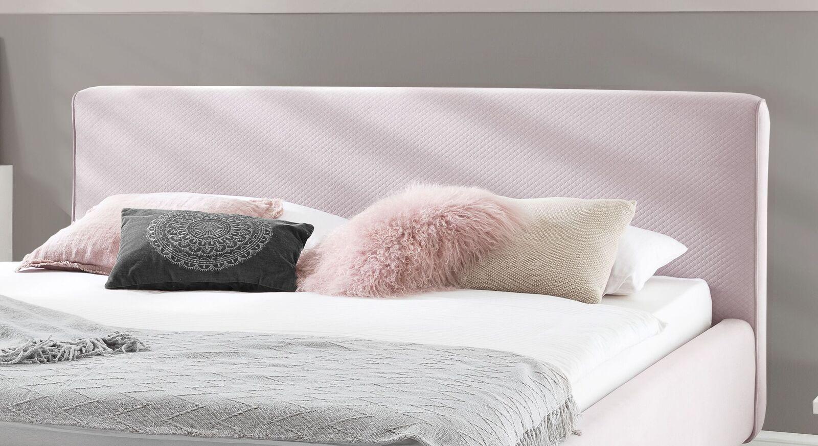 Bett Inara mit Polster-Kopfteil