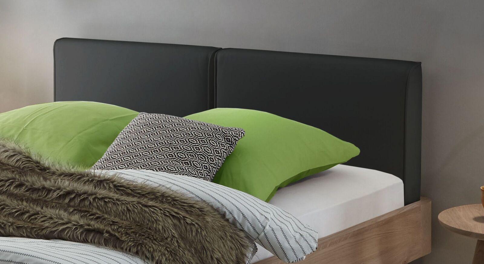 Modernes Bett Inesis mit gepolstertem Kopfteil