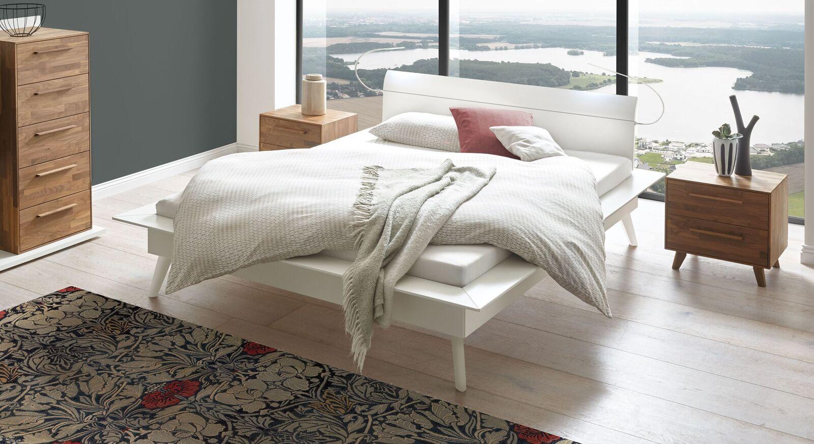 Bett Isonreo aus weißer Buche