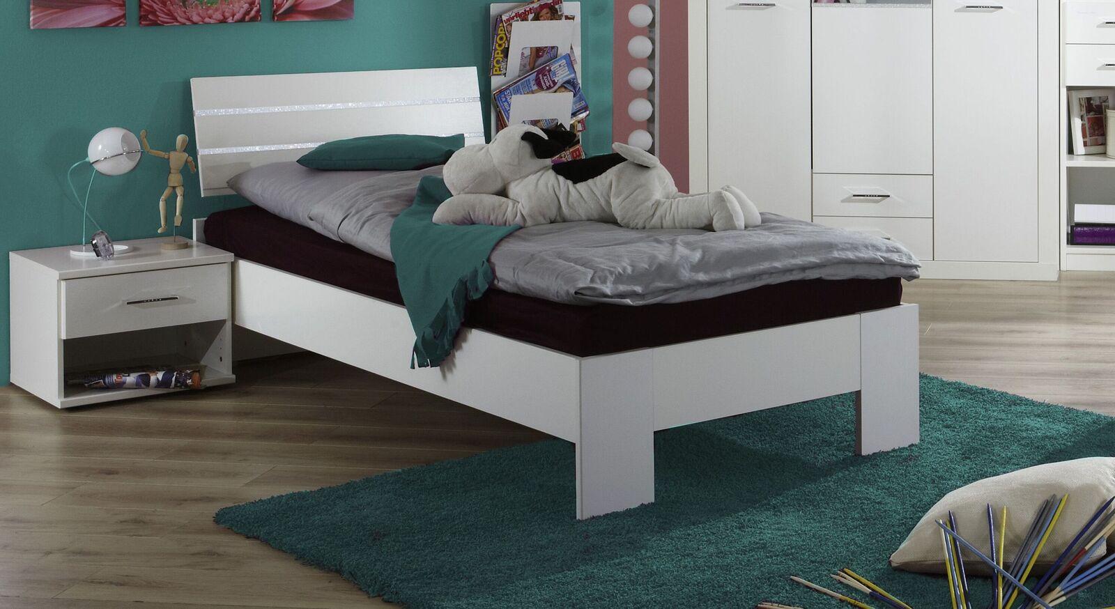 Bett Lajana in praktischer Einzelbett-Größe
