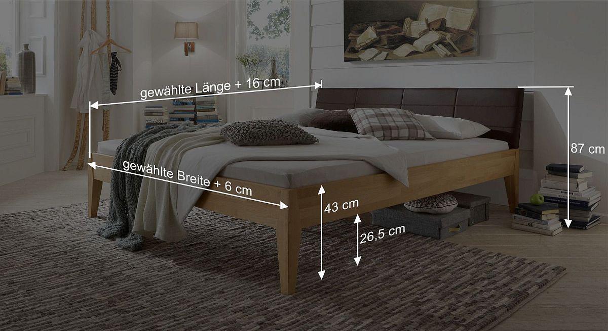Bemaßungs-Skizze des Bettes Leonardo