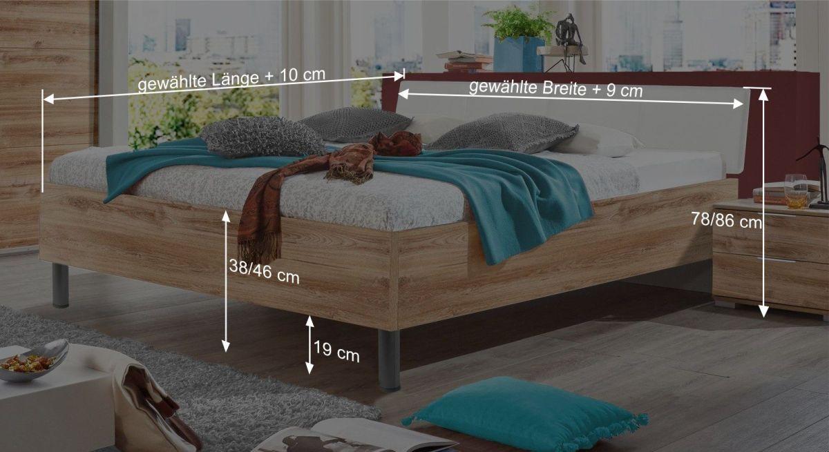 Bett Loanos Bemaßungsgrafik