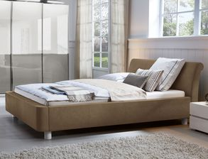 Komplett-Schlafzimmer luxuriöses Kunstleder-Polsterbett - Macuma