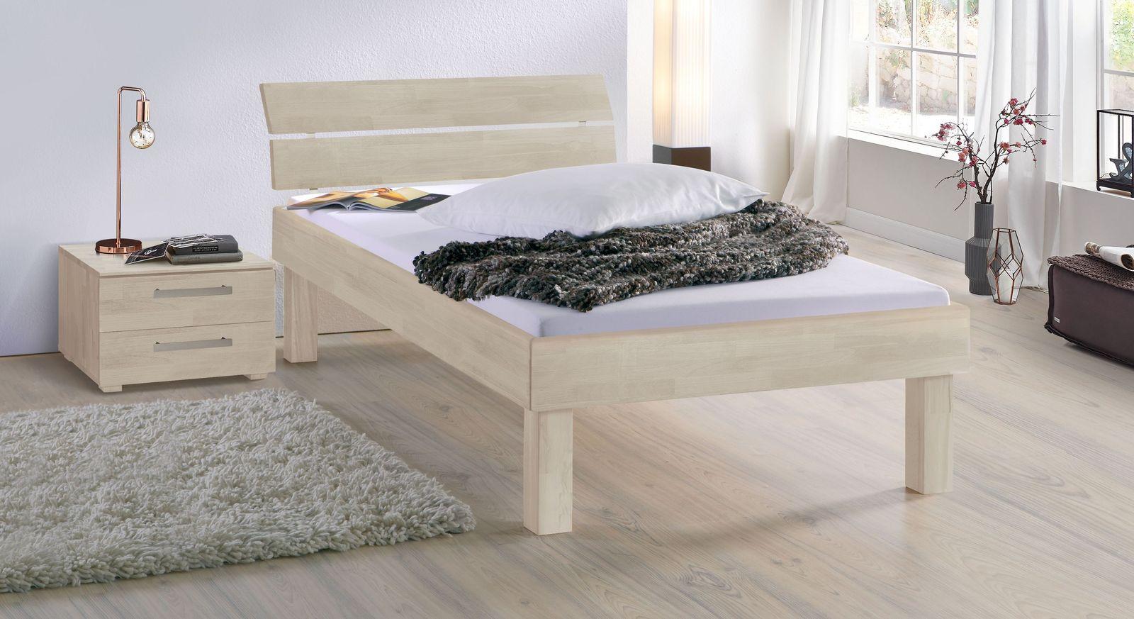 Weißes Bett Madrid Komfort in 30 cm Höhe