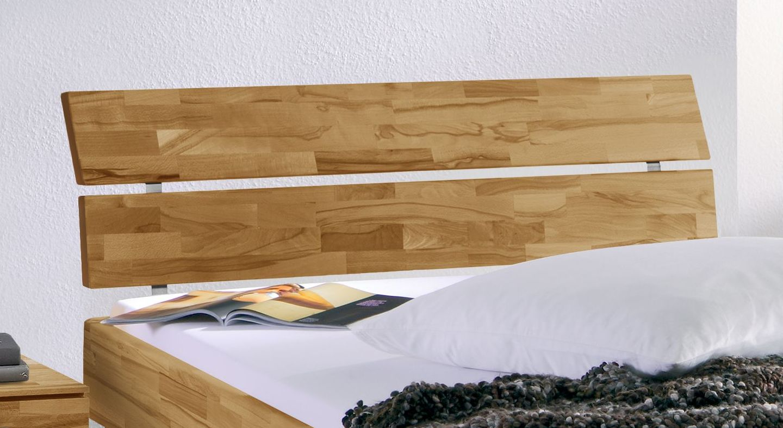 Bett Madrid Komfort mit zweigeteiltem Kopfteil