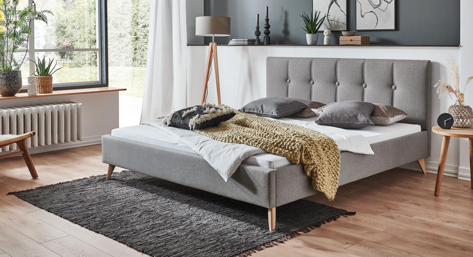 Bett Maliana im skandinavischen Look