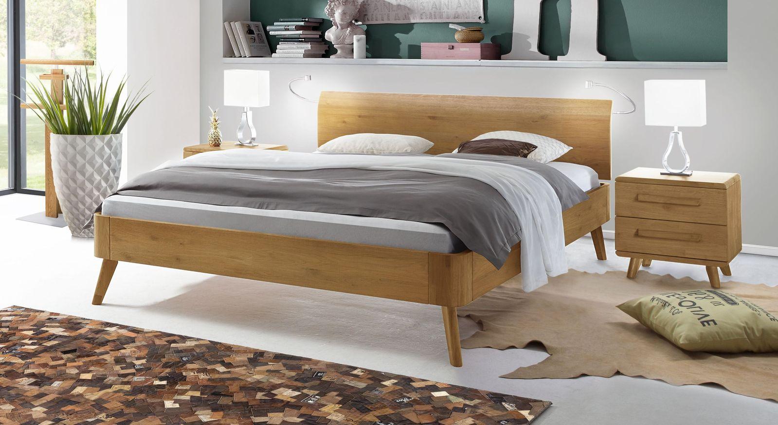 Bett Manouba aus natürlicher Eiche