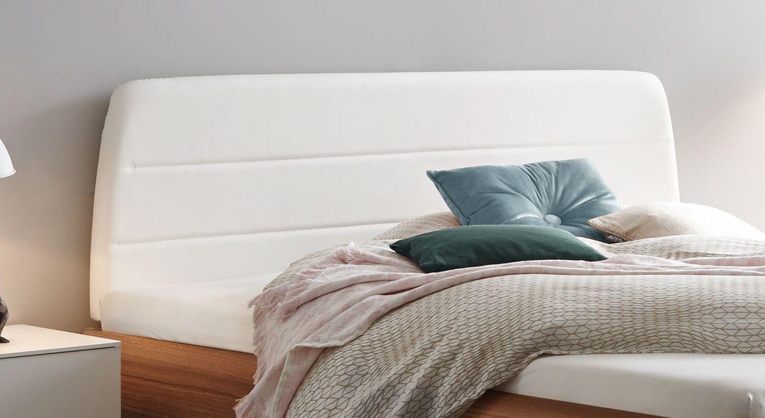 Bett mencia mit Polsterkopfteil mit Kunstleder-Bezug
