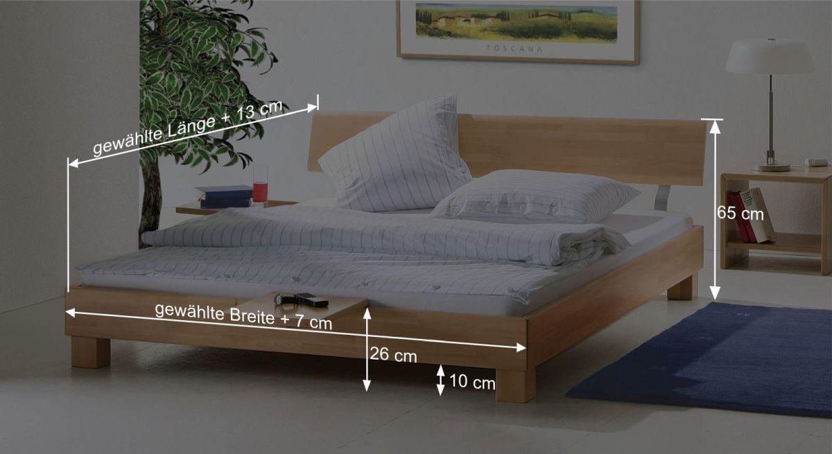 Bemaßungsskizze zum Bett Monza
