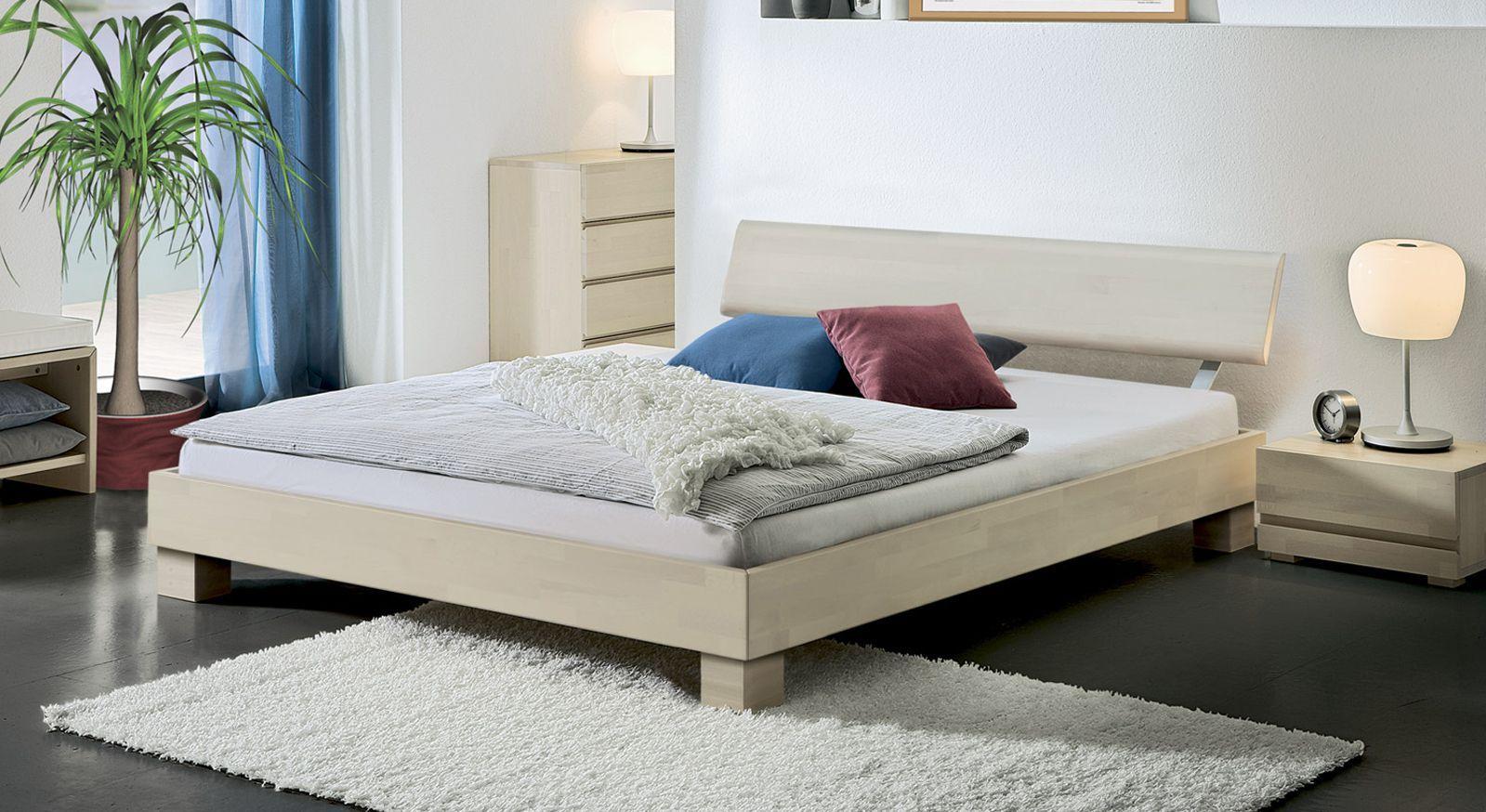 Bett Monza Buche weiß