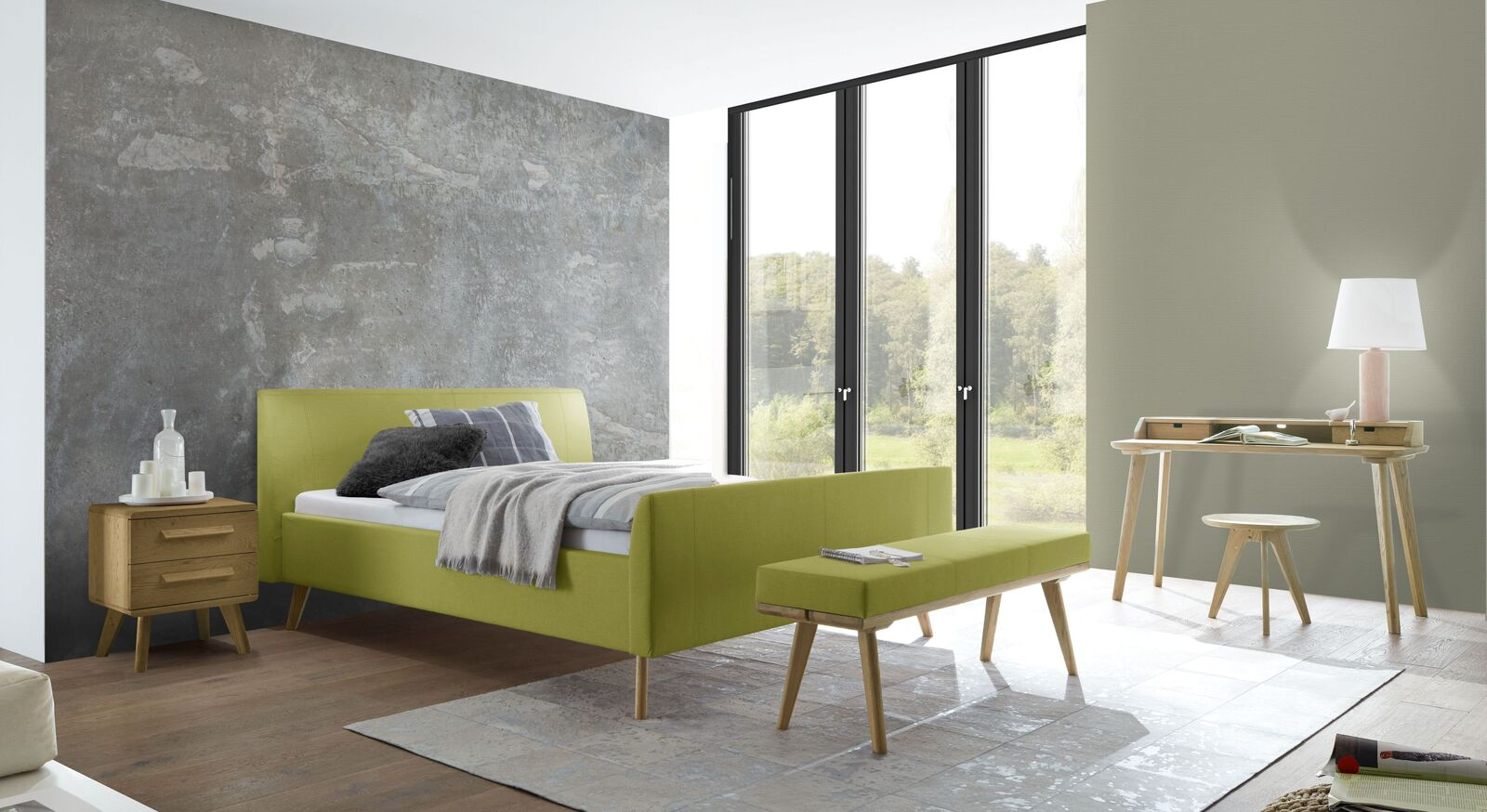 Bett Nelka mit passenden Schlafzimmermöbeln