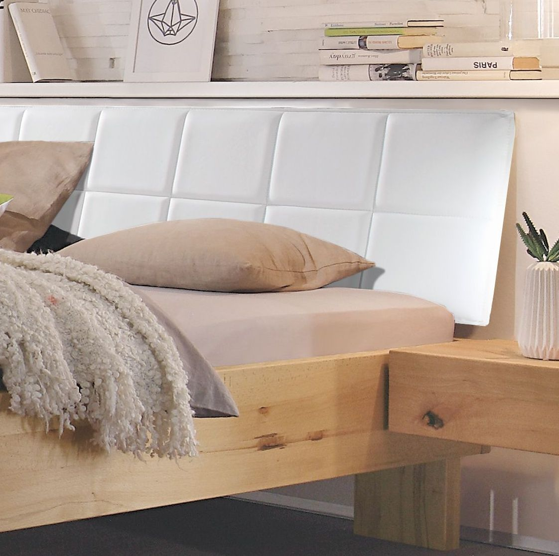 massives bett in komforth he aus wildbuche natur nemea. Black Bedroom Furniture Sets. Home Design Ideas
