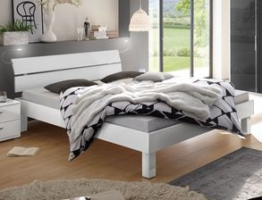Komplett-Schlafzimmer in Weiß Hochglanz - Norman | BETTEN.de