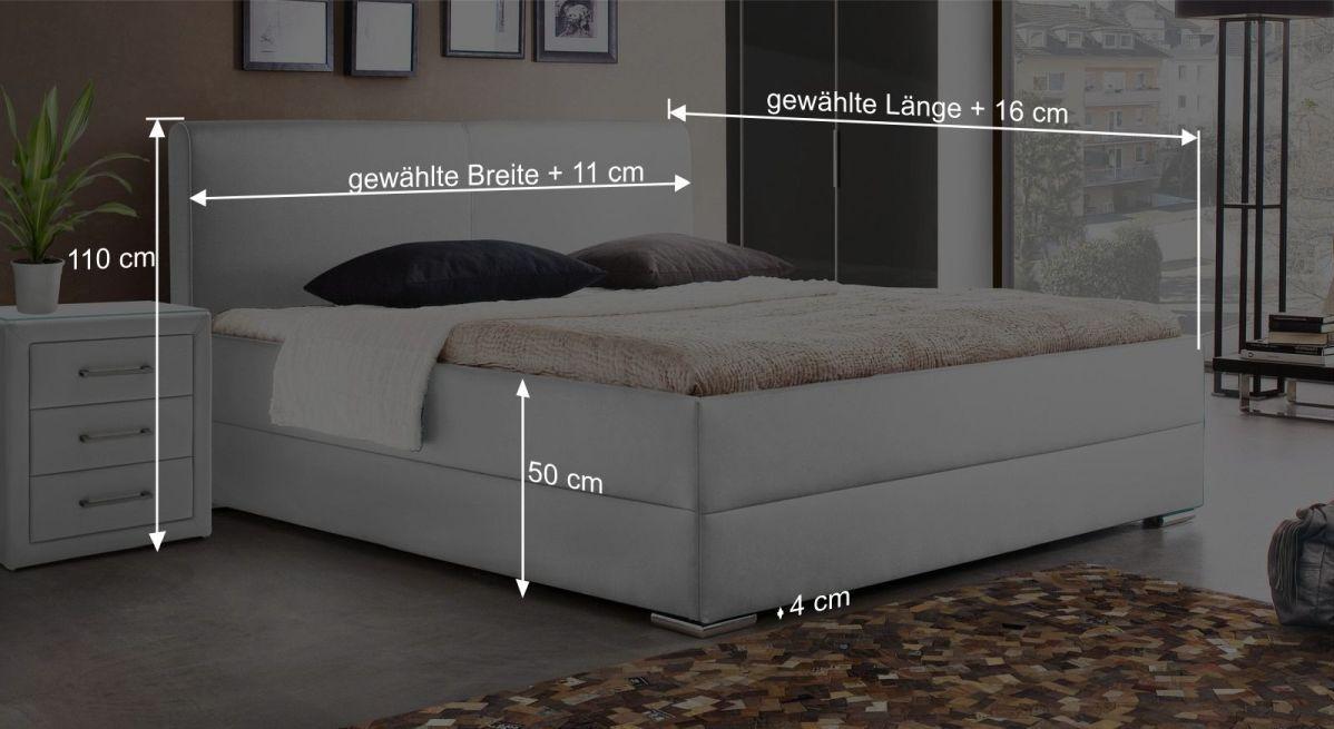 Bett Nulatos Bemaßungsgrafik