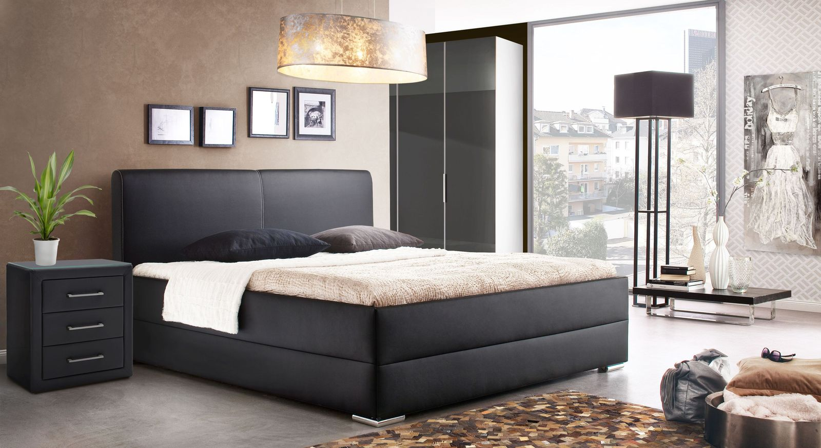 Bett Nulato in trendiger Boxspring-Optik