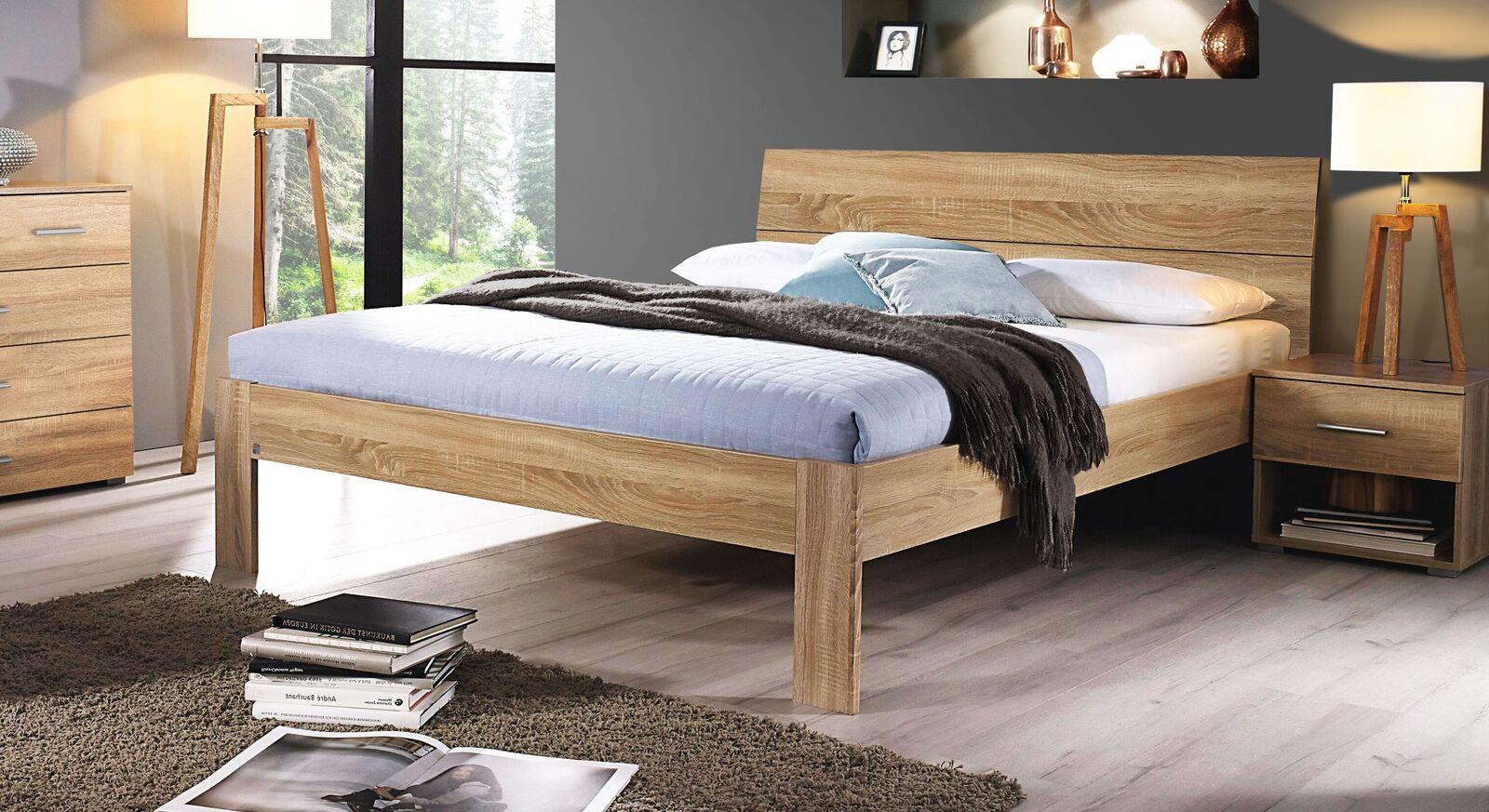 Schlichtes Bett Oliana