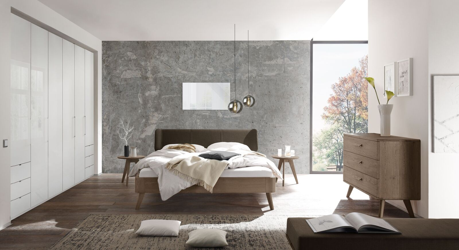 Passende Schlafzimmer-Ausstattung zum Bett Oriane